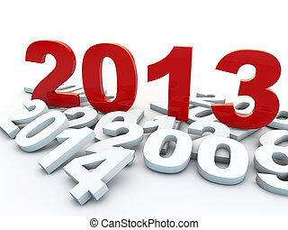 hen, baggrund, år, nye, hvid, 2013