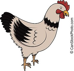 Hen cartoon illustration