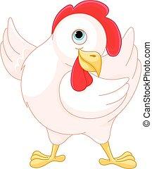 Hen - Illustration of very cute hen