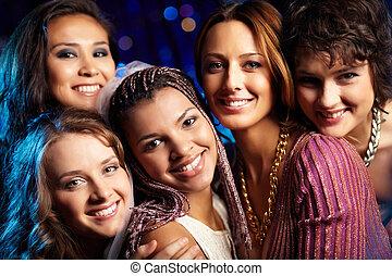 Hen party - Female friends having fun and enjoying...