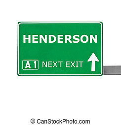 HENDERSON road sign isolated on white