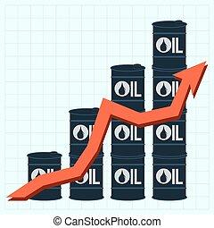 hengerek, olaj, ár, ábra, vektor, ábra