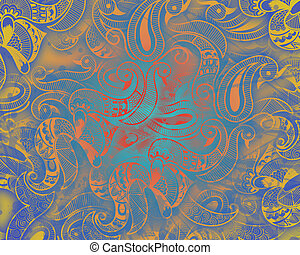 Henna Abstract Background