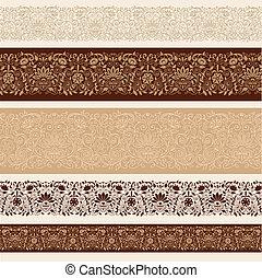 Henna Doodle Border Design Vector