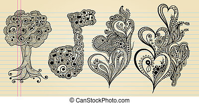 Henna Doodle Sketch Vector Design