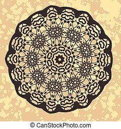 Henna inspired Colourful Mandala - Vintage ethnic vector...