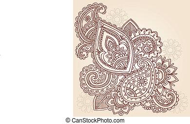 Henna Mehndi Tattoo Doodles Vector