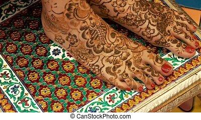 Henna Painted Feet