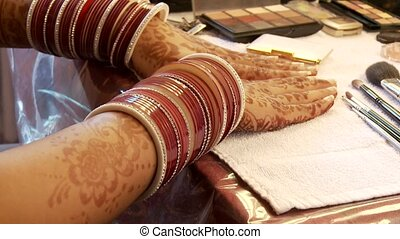 Henna Painting On Arms