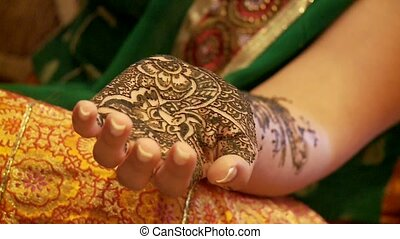 Henna Painting On Hand (India)