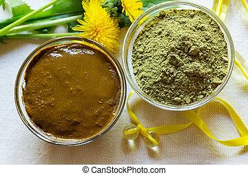 Henna powder. Henna paste. Prepare henna paste. - Henna...