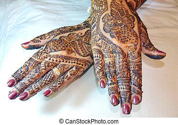 Henna Tattoo Design on Hands
