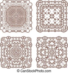 vector elements - Henna tattoo doodle vector elements on...