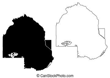 Hennepin County,  Minnesota (U.S. county, United States of America, USA, U.S., US) map vector illustration, scribble sketch Hennepin map