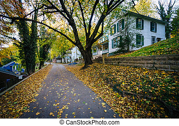 Henry Clay Street, in Harpers Ferry, West Virginia.