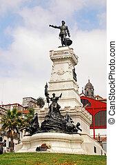 henry, el, navegante, monumento, porto, portugal