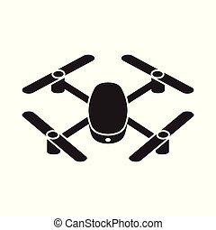 henyél, quadcopter, ikon, vektor