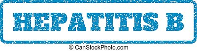 Hepatitis B Rubber Stamp - Blue rubber seal stamp with...
