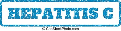 Hepatitis C Rubber Stamp - Blue rubber seal stamp with...