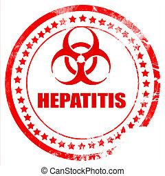 Hepatitis virus concept background