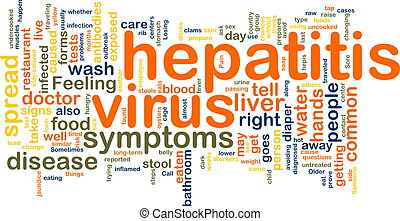 Word cloud concept illustration of hepatitis virus