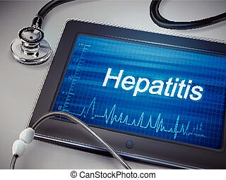 hepatitis word display on tablet