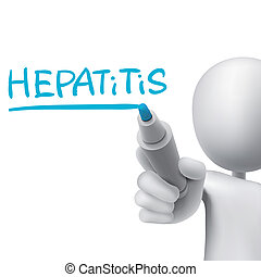 hepatitis word written by 3d man