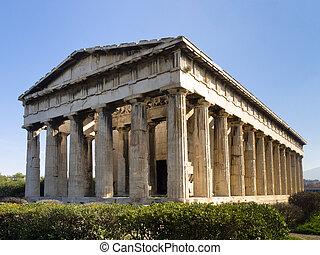 Hephaistos,  ),  (,  Hephaisteion, templo,  Athena