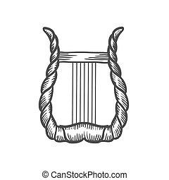 heptacorde, 型, engraving.