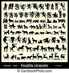 heráldico, elementos
