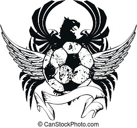 heráldico, futbol, escudo de armas, crest3