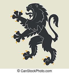 heráldico, león