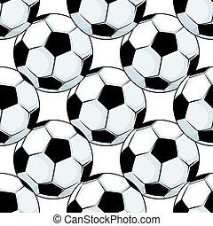 herék, motívum, labdarúgás, seamless, futball, vagy