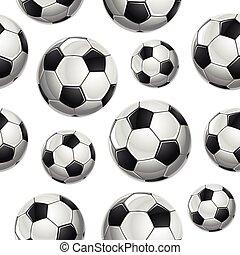 herék, pattern., futball, seamless