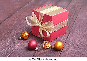herék, tehetség, fából való, fa, dobozok, háttér., dekoráció, karácsony
