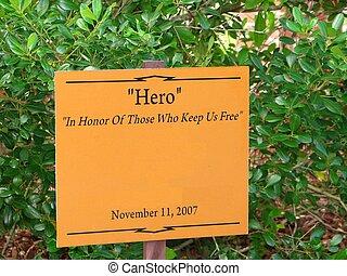 herói, sinal