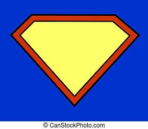 herói super, fundo