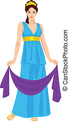 Hera - Vector illustration of Hera the wife and one of three...