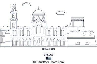 Heraklion City Skyline, Greece