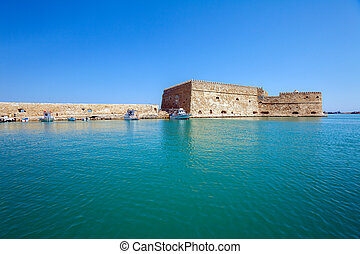 Heraklion Harbour and Fortress, Crete