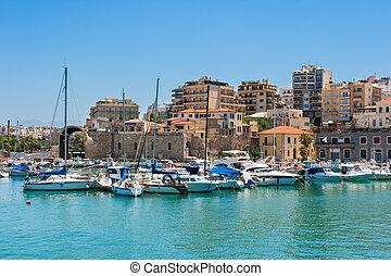 Heraklion harbour. Crete, Greece