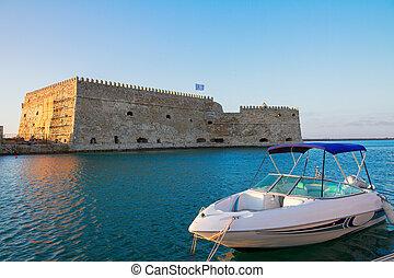 Heraklion harbour, Crete, Greece