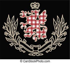 heraldic, グラフィック, クラシック, アートワーク, 要素