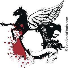 heraldic, コート, の, arms8