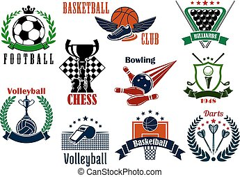 heraldic, スポーツ, ゲーム, 紋章, アイコン