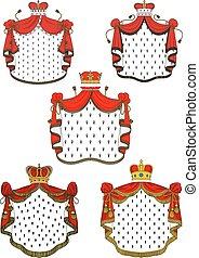 heraldic, セット, 皇族, 赤, ふた