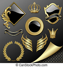 heraldic, セット, 要素