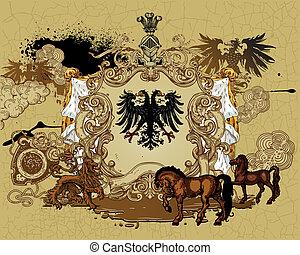 heraldic, デザイン