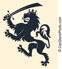 heraldic, ライオン