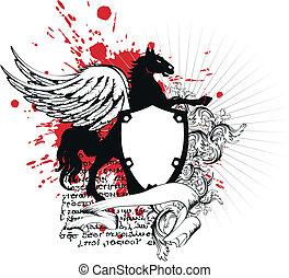 heraldic, 保護, 紋章, crest3